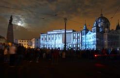 Lodz Festival in the spotlight .. Stock Photo