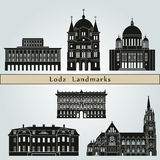 Lodz Landmarks Royalty Free Stock Photography
