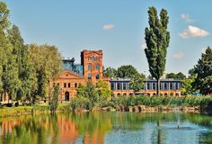 Lodz - old factory Ludwik Grohman Stock Images