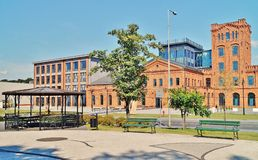 Lodz - old factory Ludwik Grohman Royalty Free Stock Images