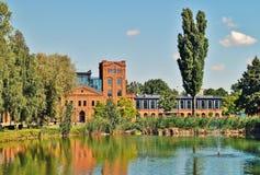 Lodz - oude fabriek Ludwik Grohman Stock Afbeeldingen