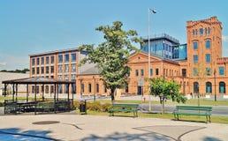 Lodz - oude fabriek Ludwik Grohman Royalty-vrije Stock Afbeeldingen