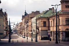 Lodz, Piotrkowska Street Royalty Free Stock Image