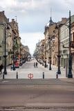 Lodz, Piotrkowska Street Stock Photo