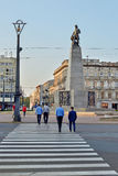 Lodz ,Poland- Liberty Square Stock Photography
