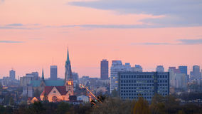 Lodz, Poland. Panorama of the city Lodz, Poland Stock Photos
