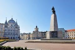 Lodz, Polen Liberty Square royalty-vrije stock afbeeldingen