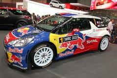 Loeb and Elena rallye Citroen DS3 WRC Royalty Free Stock Photo