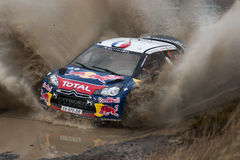 Loeb Spalsh WRC Foto de Stock Royalty Free