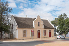 Loedolf House in Malmesbury. MALMESBURY, SOUTH AFRICA - MARCH 31, 2017: The Loedolf House, built 1826, in Malmesbury, a town in the Swartland area of the Western Royalty Free Stock Images