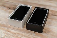 Loei,泰国2016年11月07日:新的苹果计算机iPhone 7箱中取出的n 库存照片