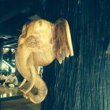 Loei, Таиланд 10-ое августа 2014: Слон в виске Стоковое Изображение RF