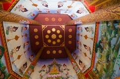 Loei, Таиланд - 19-ое марта: Искусство тайское, буддист мифологии настенной росписи Стоковое Изображение