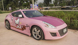 LOEI - 2 de março: Carro desportivo de Nissan 370z, olá! edição da vaquinha, em d Imagem de Stock Royalty Free