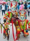 LOEI-LANDSKAP, THAILAND-J ULY 23: Unidentified män w Arkivfoto