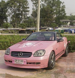 LOEI - March 2: Mercedes-Benz, Hello kitty edition, on display a Royalty Free Stock Photo