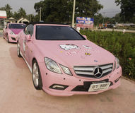 LOEI - March 2: Mercedes-Benz, Hello kitty edition, on display a Royalty Free Stock Photos