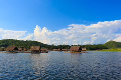 Loei-November 15 float raft at Huai Krathing with unidentified p Stock Images