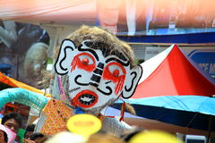 Loei province, Thailand- June 28,2014: Unidentified man wear ghost costume at Phi Ta Khon or Ghost Festival at Dan Sai district,