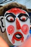 Loei prowincja, Tajlandia Czerwiec 28,2014: Niezidentyfikowany mężczyzna odzieży ducha kostium przy Phi Ta Khon lub ducha festiwa zdjęcia stock