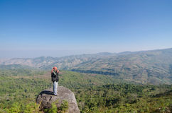 LOEI THAILAND - JANUARY 17 : Tourist happy with your visit  phu Royalty Free Stock Photo