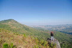 LOEI THAILAND - JANUARY 17 : Tourist happy with your visit  phu Stock Image