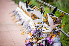 LOEI ,THAILAND-JUNE 28: Ghost Festival. Phi Ta Khon. The mask procession celebrated in Thailand, The Thai Buddhist ceremony at Dansai district Loei province, on Stock Image