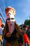 LOEI Thailand - Juni, 18, 2018: Phi Ta Khon Festival Arkivbild