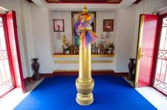 Loei Thailand - mars 19: Relikskrin för Loei stadspelare, Loei provinc Fotografering för Bildbyråer