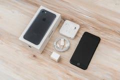 Loei, Thailand 07 November, 2016: Nieuwe Apple-iPhone 7 unboxing n Stock Foto's