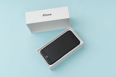 Loei, Thailand 07 November, 2016: Nieuwe Apple-iPhone 7 unboxing n Royalty-vrije Stock Afbeelding