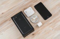 Loei, Thailand 07 November, 2016: Nieuwe Apple-iPhone 7 unboxing n Stock Foto