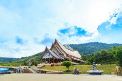 Loei, Thailand - October 24, 2018 : Wat pa huay lad is Beautiful art temple. Here is a quiet meditation practice. stock photo