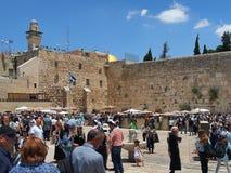 Loeiende muur, Jeruzalem Stock Foto's