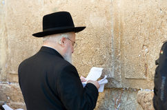 Loeiende Muur in Jeruzalem Royalty-vrije Stock Afbeeldingen