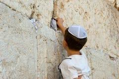 Loeiende Muur in Jeruzalem Stock Afbeelding