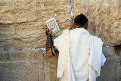 Loeiende Muur in Jeruzalem Stock Foto's