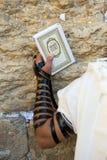 Loeiende Muur in Jeruzalem Stock Foto