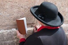 Loeiende Muur Jeruzalem, gebed Stock Foto's