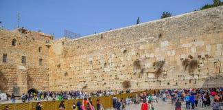 Loeiende muur Jeruzalem, Israël Stock Foto