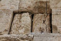 Loeiende Westelijke Muur. Nota's aan God Stock Afbeeldingen