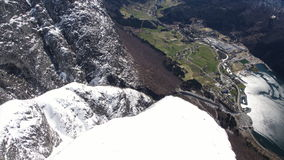 Loen mountain area. In Norway stock footage