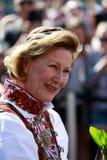 LOEN NORGE -, MAY 20 2017: Drottning Sonja av Norge på openinen Arkivfoton