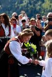 LOEN NORGE -, MAY 20 2017: Drottning Sonja av Norge på openinen Arkivbilder