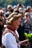 LOEN NORGE -, MAY 20 2017: Drottning Sonja av Norge på openinen Royaltyfri Fotografi