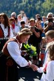 LOEN NORGE -, MAY 20 2017: Drottning Sonja av Norge på openinen Royaltyfria Bilder