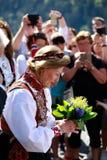 LOEN NORGE -, MAY 20 2017: Drottning Sonja av Norge på openinen Arkivfoto