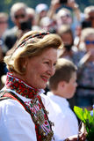 LOEN NORGE -, MAY 20 2017: Drottning Sonja av Norge på openinen Royaltyfri Foto