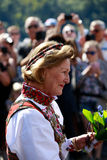 LOEN, NORWAY - MAY, 20 2017: Queen Sonja of Norway at the openin Royalty Free Stock Photography
