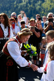 LOEN, NORWAY - MAY, 20 2017: Queen Sonja of Norway at the openin Royalty Free Stock Images